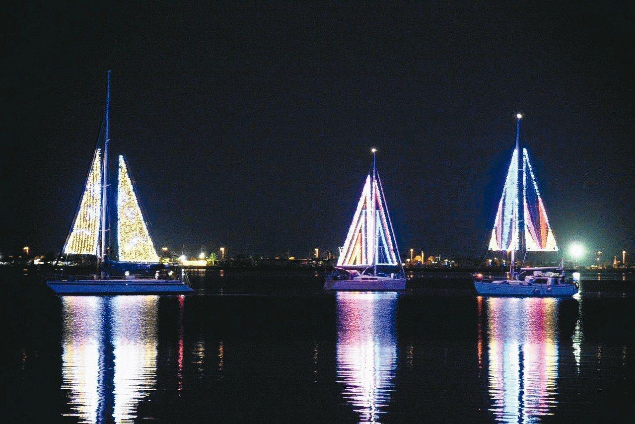 台灣燈會的農業海洋燈區昨晚亮相,展現屏東豐富多元的一面。 圖/屏東縣政府提供