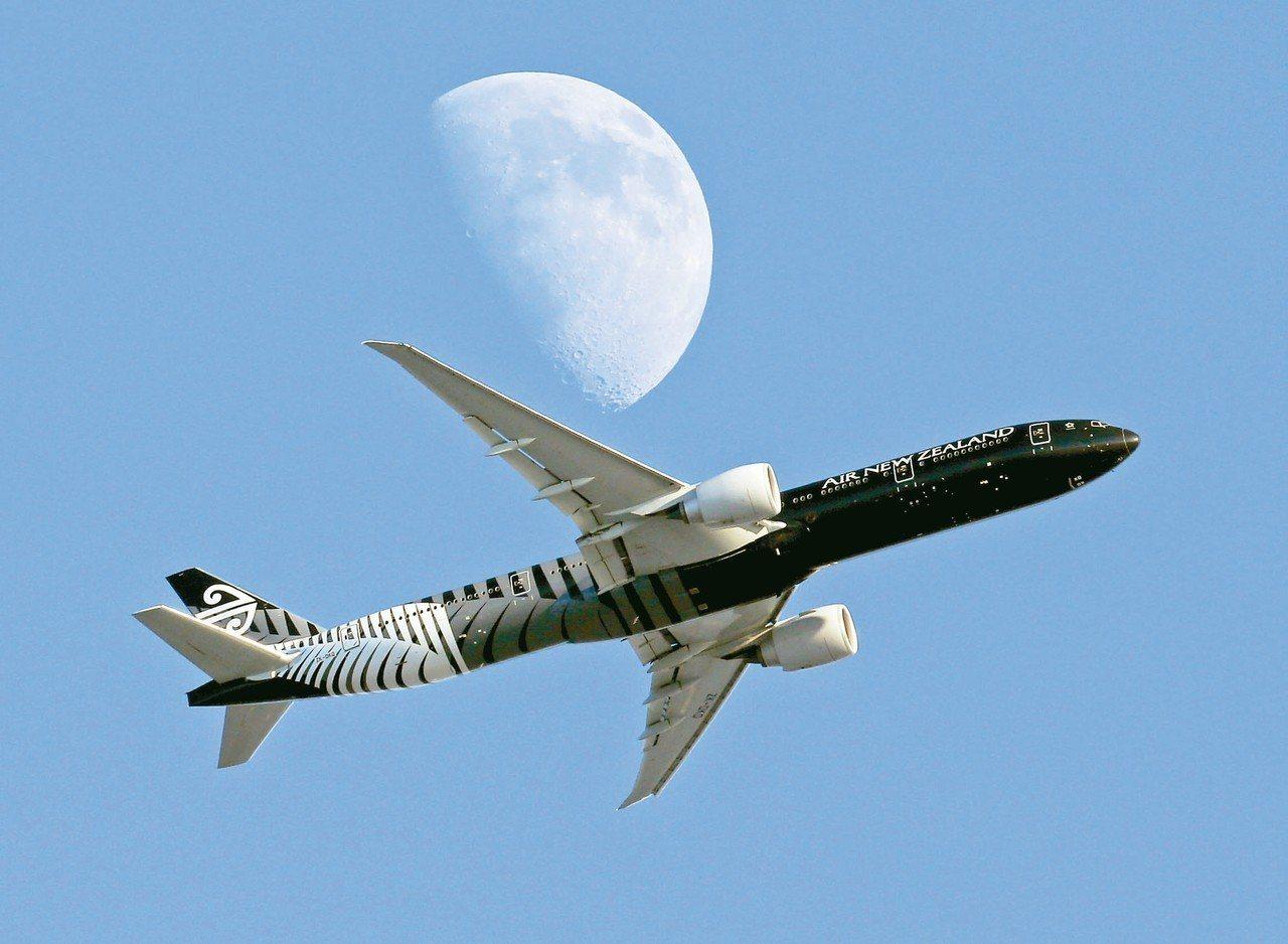 紐西蘭航空公司一架飛往上海的班機,因未獲大陸民航局准許降落,被迫在飛行數小時後折...