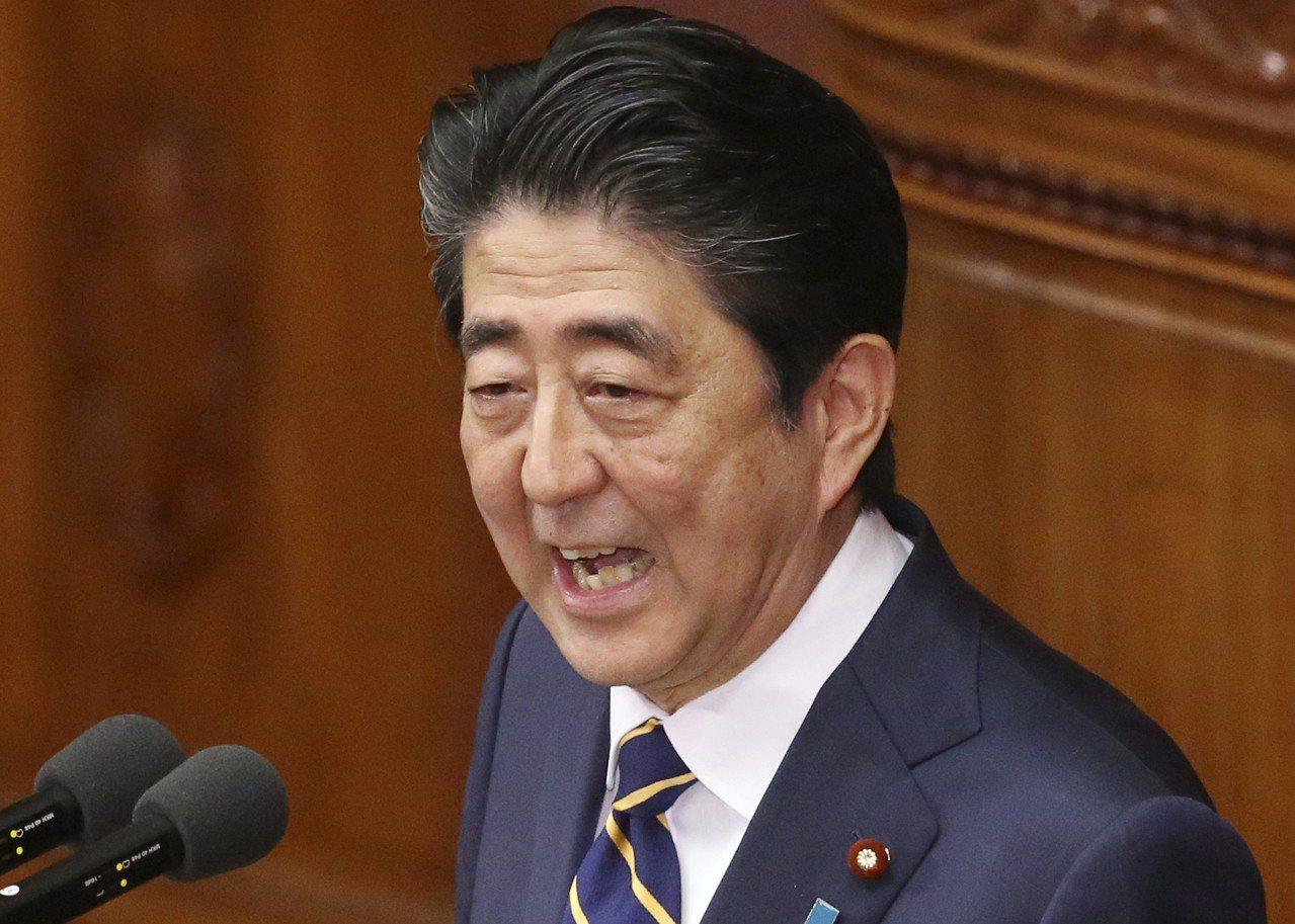 日本首相安倍晉三。 (美聯社)