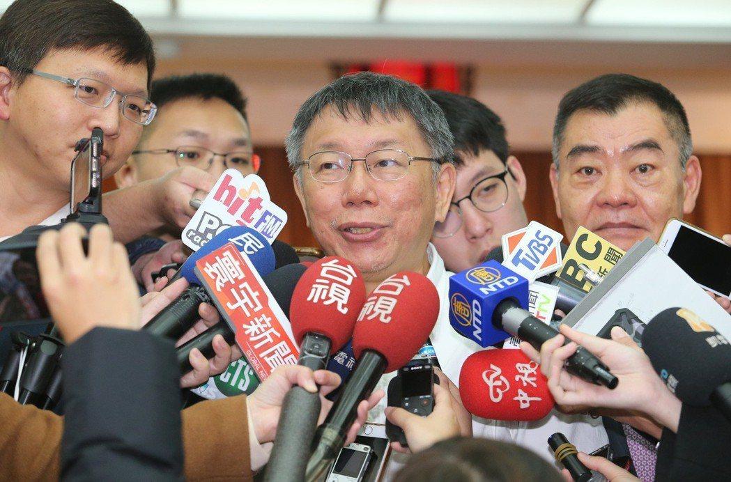 台北市長柯文哲昨天說,台北要發展的不是攤販經濟。 圖/聯合報系資料照片