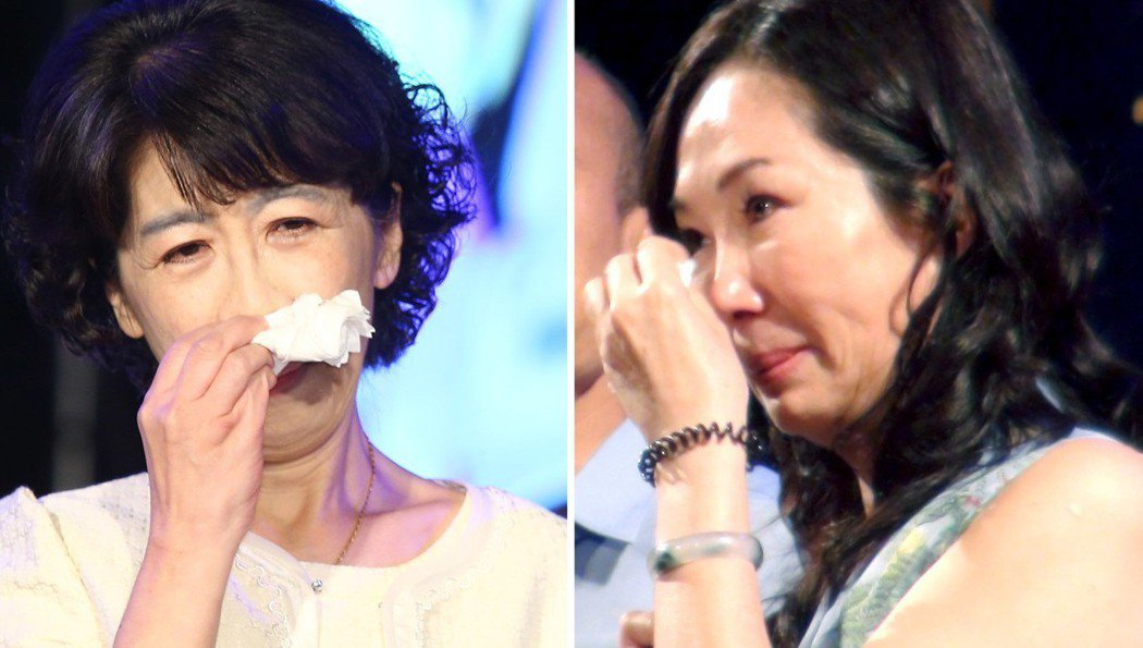 陳佩琪(左)和李佳芬(右)的眼淚,牽動支持者的心。 圖/聯合報系資料照片