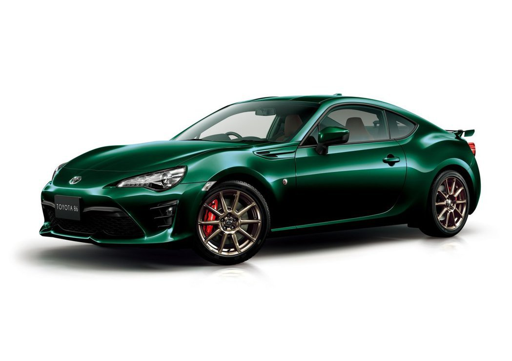 Toyota 86 British Green Limited Edition。...