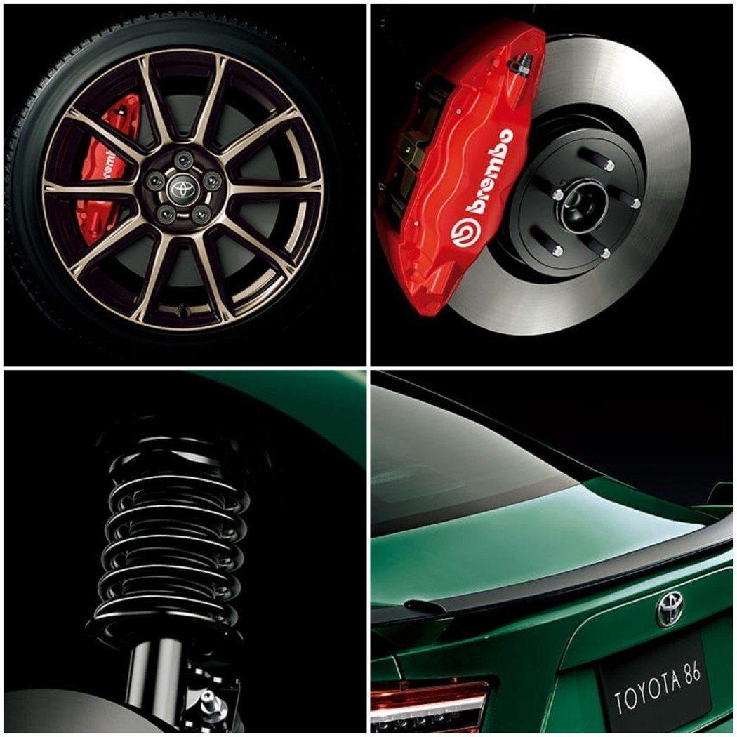 Brembo卡鉗和Sachs避震器才是升級逸品。 摘自Toyota
