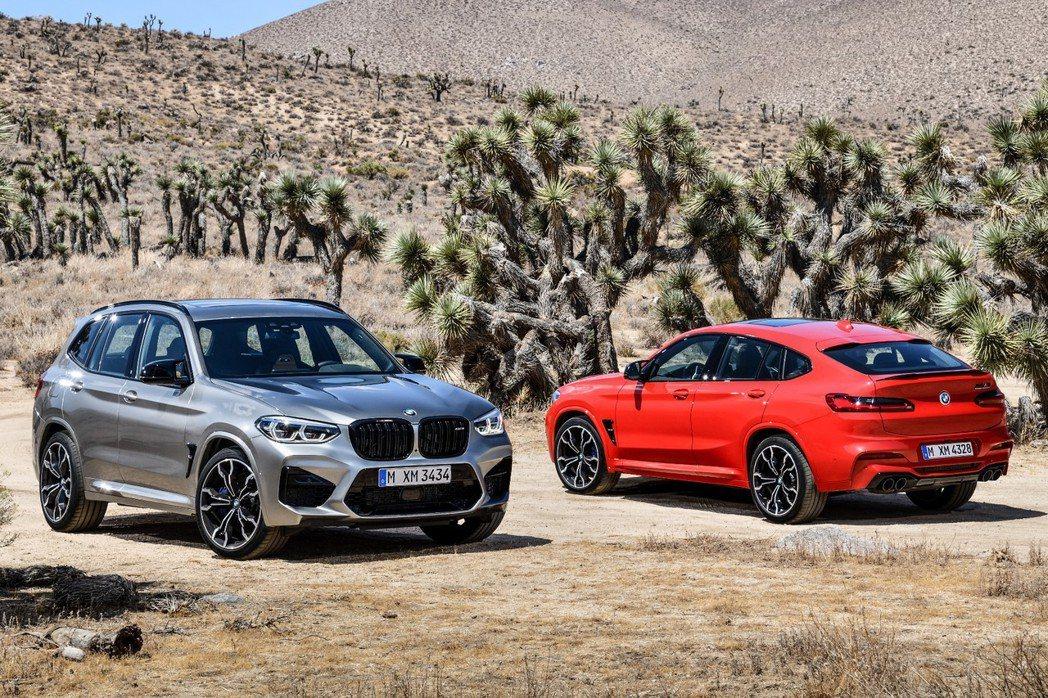BMW 全新X3 M (F97)、X4 M (F98)無預警亮相。 摘自BMW