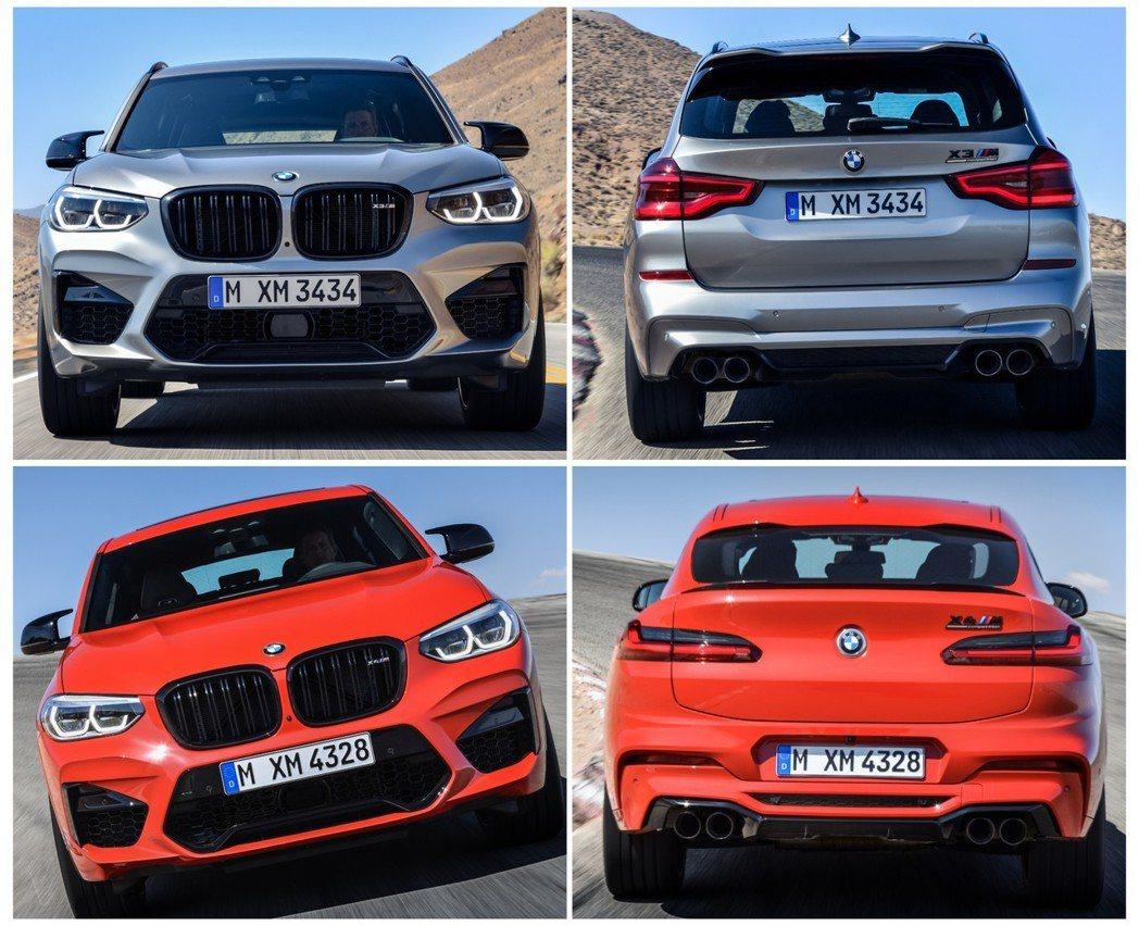 BMW X3與X4首度加入M Power家族。 摘自BMW