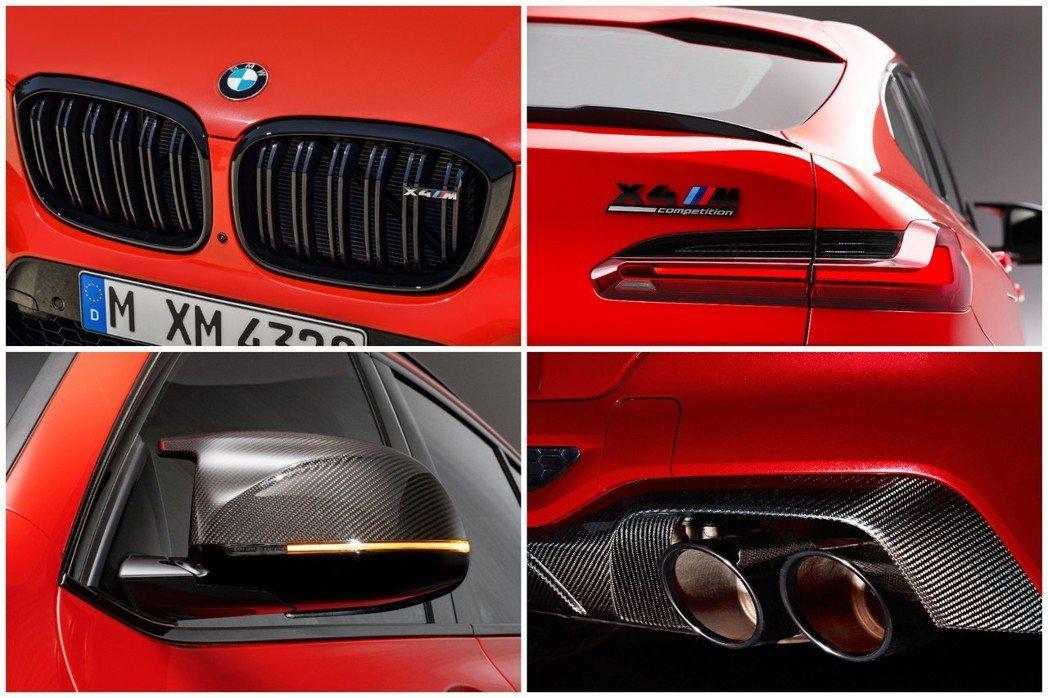 Competition版本若額外選配M款碳纖維套件,在許多配件上都會增添BMW ...