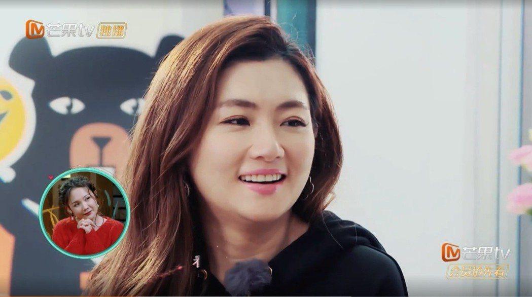Selina參加大陸真人秀「女兒們的戀愛」。圖/擷自芒果TV