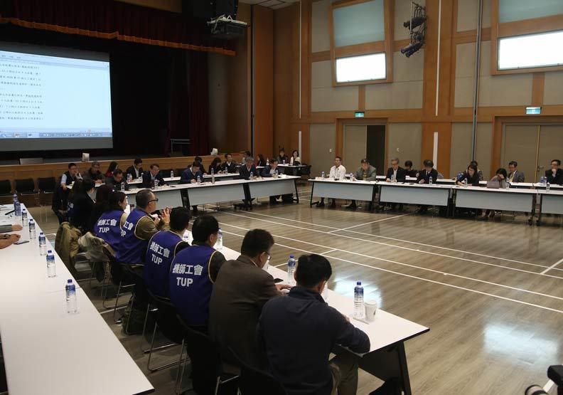 華航和機師工會第三次協商「座談會」。 攝影 / 蘇義傑