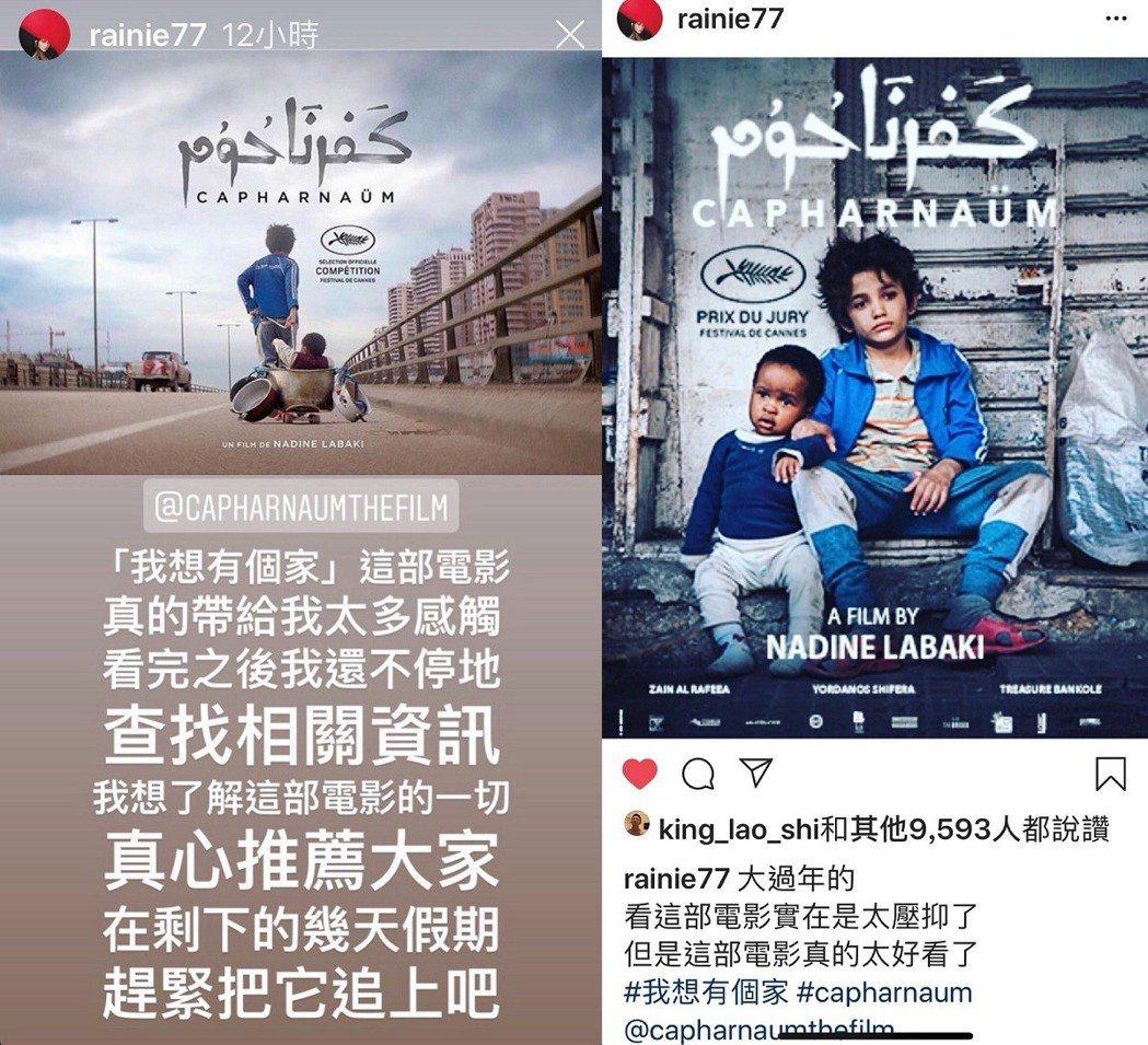 楊丞琳在社群網站上大力推薦「我想有個家」。圖/翻攝自Instagram