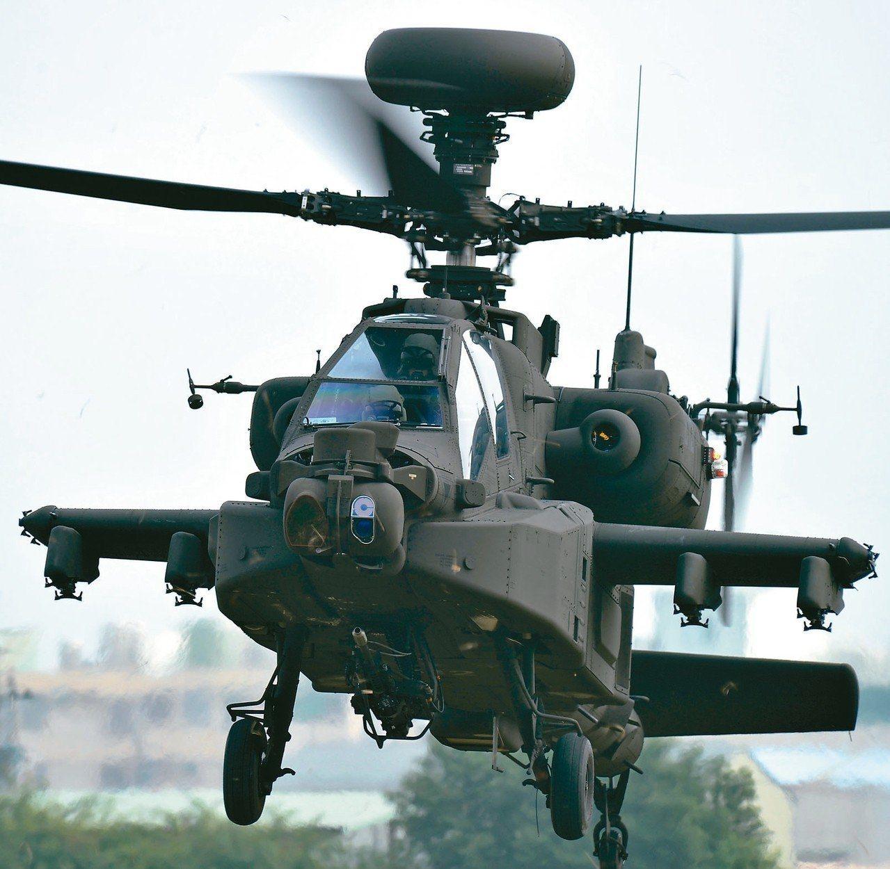 阿帕契直昇機。圖/報系資料照