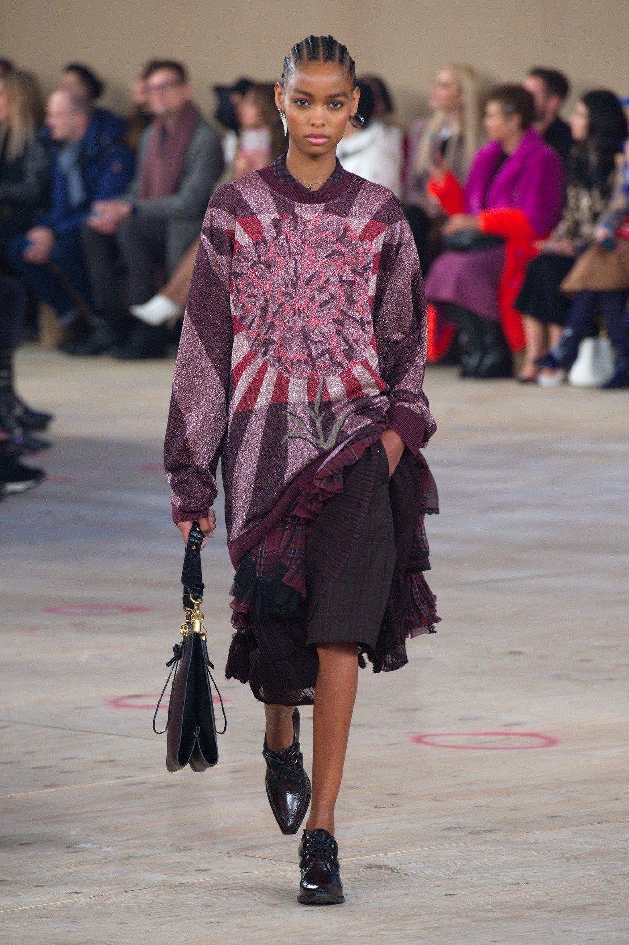 深沉用色與繽紛印花是本季裙裝的重點元素。圖/COACH提供