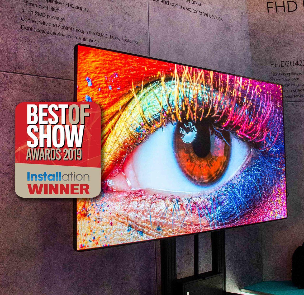 中光電自有品牌奧圖碼QUAD系列LED一體機,榮獲ISE 2019「最佳產品」。...