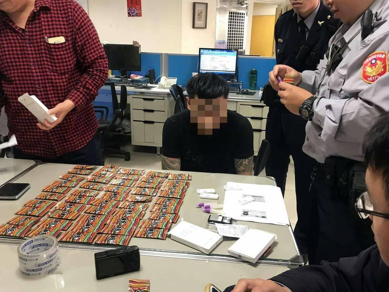 高雄市23歲李姓男子涉嫌持有大量毒品,被警方查獲法辦。記者黃宣翰/翻攝