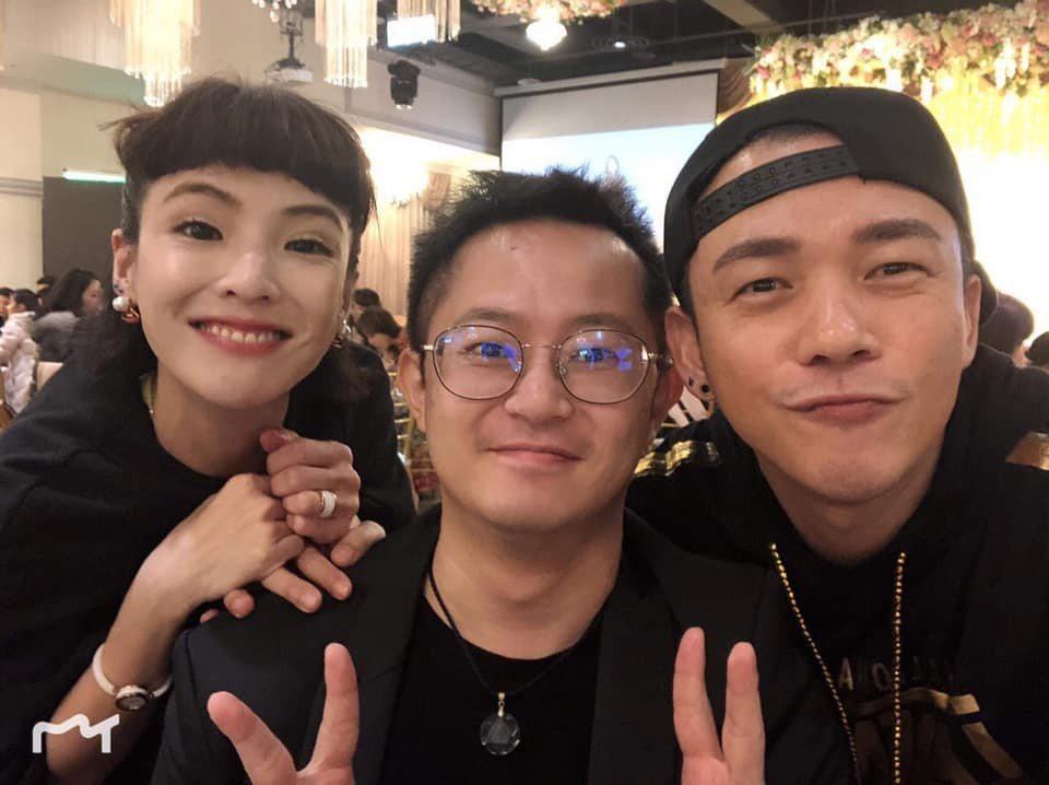 呂元鐘(中)和白吉勝(右)、許小可吃飯時合照。圖/呂元鐘臉書