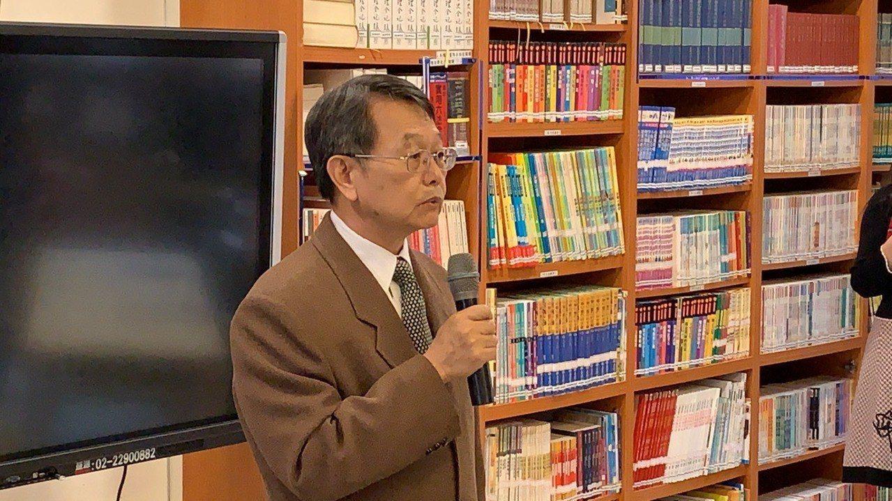 法務部國際及兩岸法律司司長蔡秋明。記者王聖藜/攝影