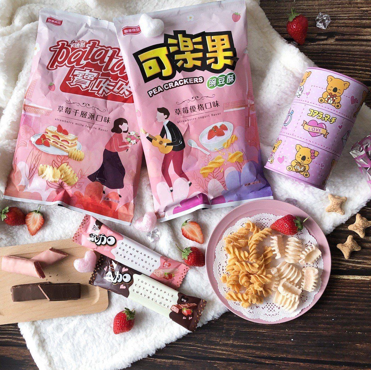 7-ELEVEN愛戀草莓季彙集糖果、巧克力、餅乾、甜點、飲料、啤酒、冰品、CIT...