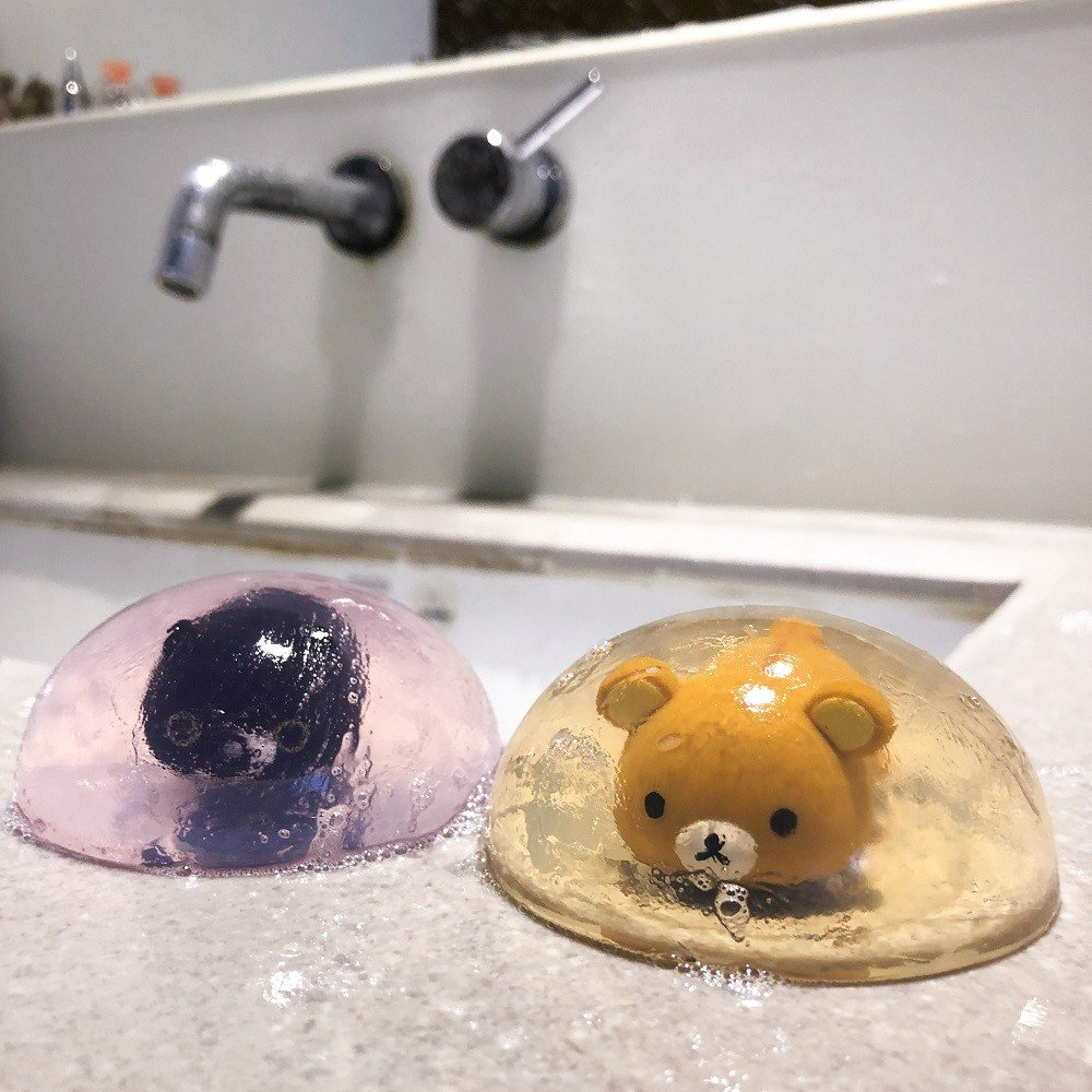 7-ELEVEN「San-X家族悠閒生活」限量立體公仔香皂。圖/7-ELEVEN...