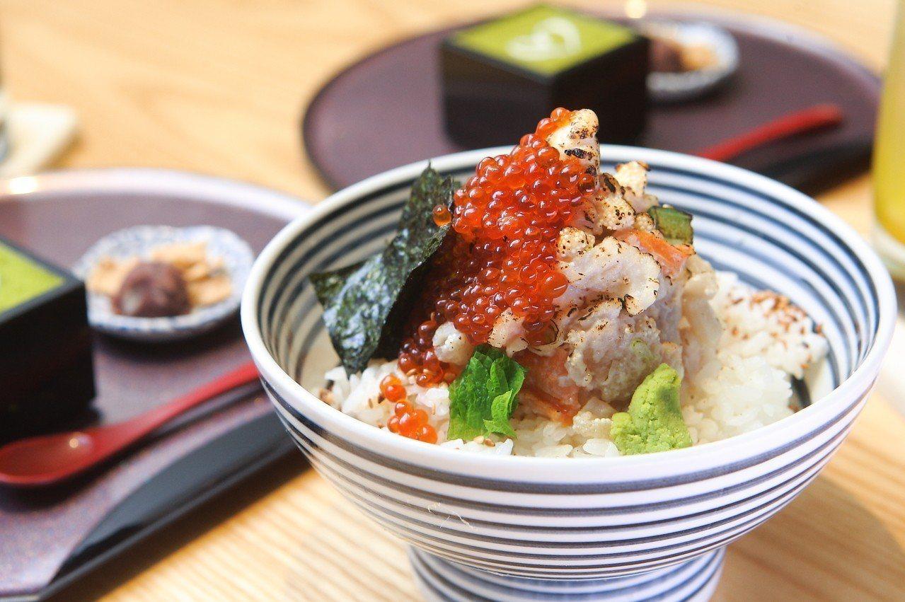 針對台灣所特別推出的焱海鮮丼,每份480元。記者陳睿中/攝影