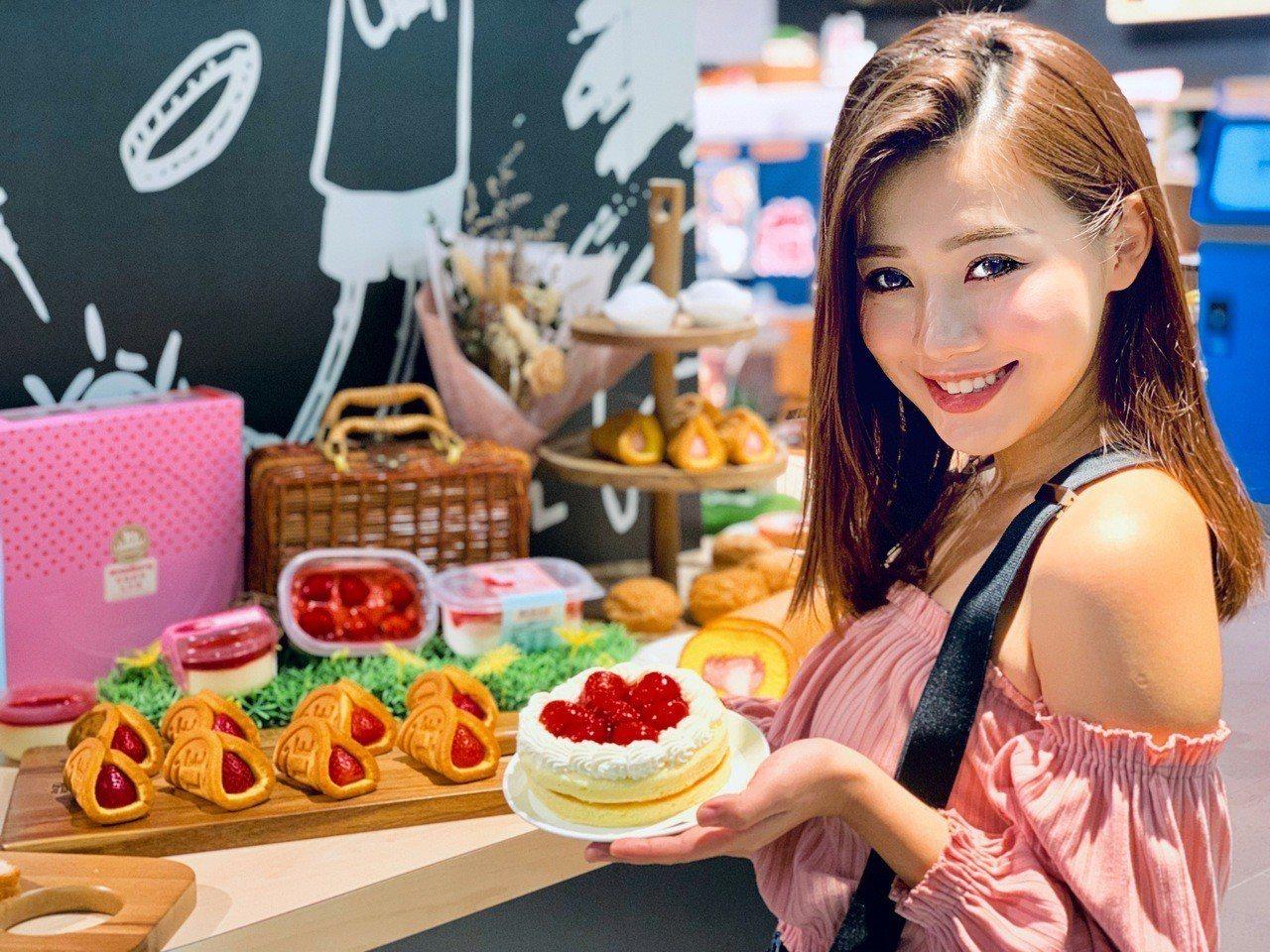 今年全聯草莓季甜點大走「網美系」路線。記者張芳瑜/攝影