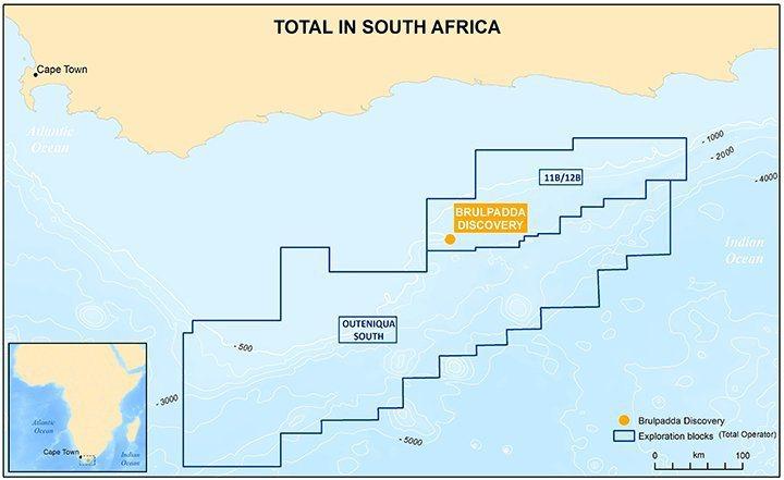 南非南部海岸附近發現大量天然氣。 圖擷自twitter
