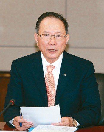 台塑集團昨天舉行業績說明會,台塑董事長林健男出席。 記者曾吉松╱攝影