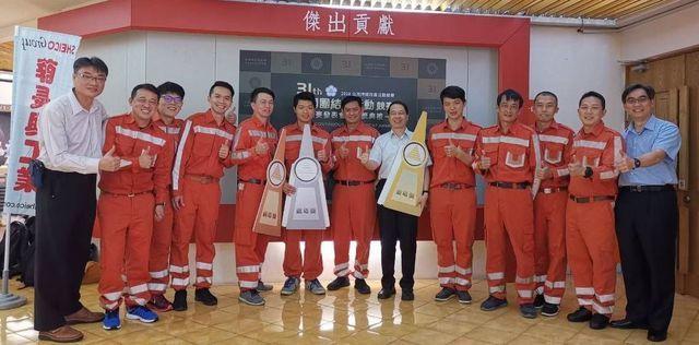 第31屆全國團結圈競賽金塔獎、台灣高鐵「紅咖圈」全體圈員。 中衛/提供