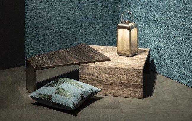 Nelly燈取材自迷人的中國燈籠意象,以耐熱的青銅有機玻璃當作燈罩,和鍛面處理手...