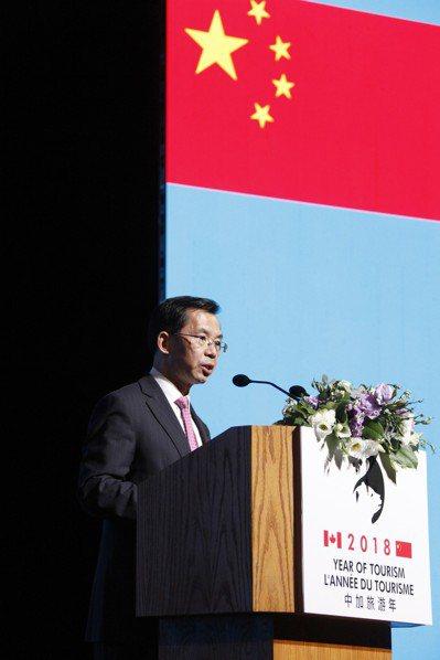 中國駐加大使反駁「中國崩潰論」,指若中國經濟崩潰對誰都無好處。中新社