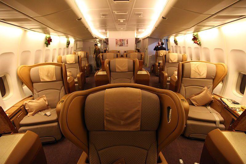 有事得趕回台灣,婦人砸重金買了12萬的頭等艙機票。示意圖,圖片來源 WIKIME...