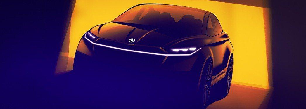ŠKODA全新電動概念車Vision iV將於今年的日內瓦車展上發表。 摘自ŠK...