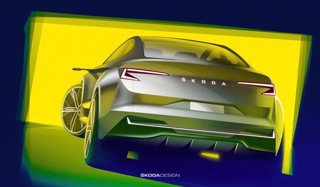 ŠKODA未來新車的車尾上,已經不再見到現行車款上的鳥頭牌廠徽,改以品牌ŠKOD...