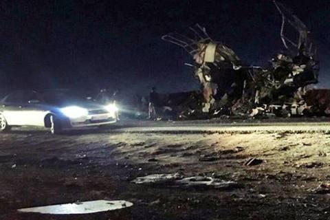 伊朗政府所倚靠的國家武力「伊斯蘭革命衛隊」(IRGC),13日晚間在伊朗東南部、...