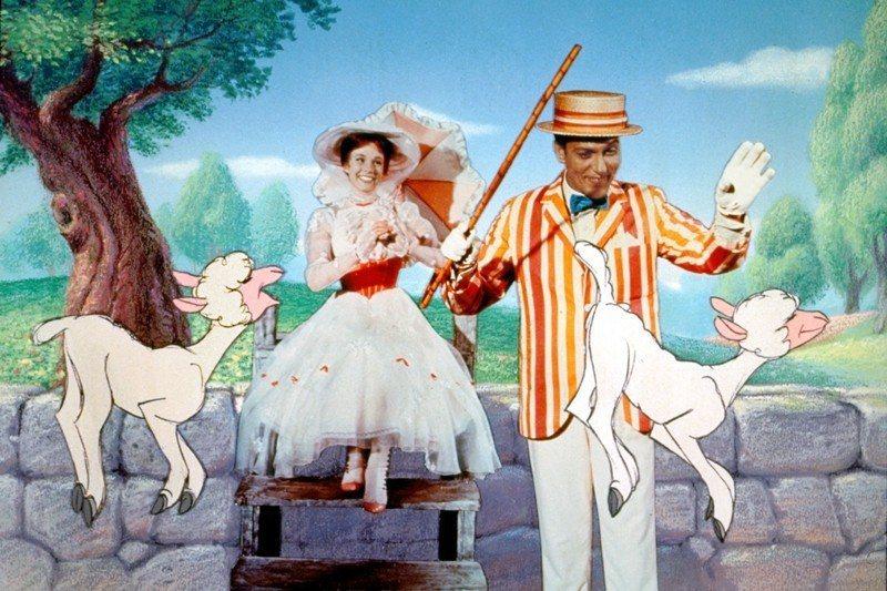 1964年的《歡樂滿人間》,是迪士尼公司第一次嘗試拍攝以真人為主的劇情長片, 圖...