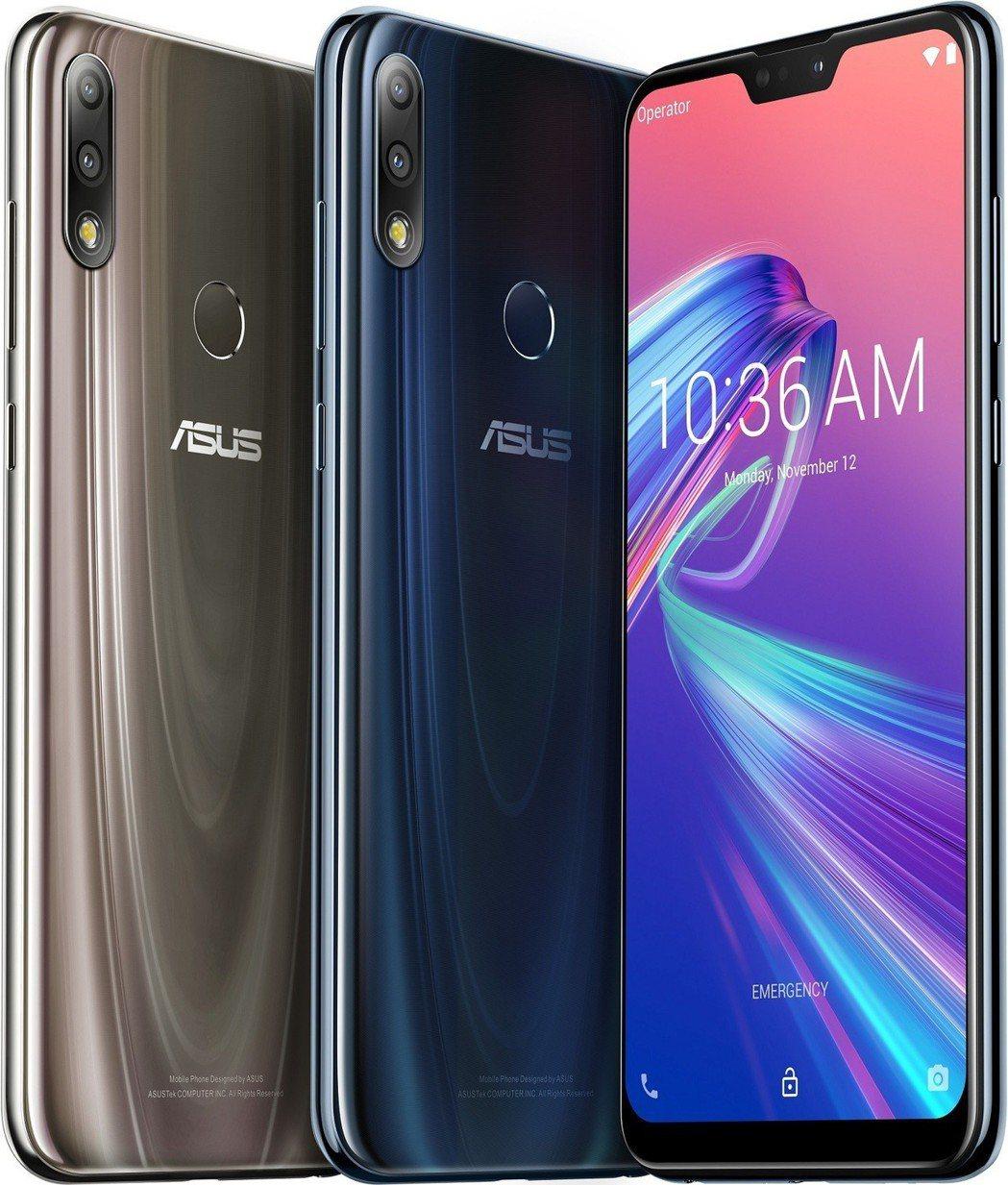 ASUS ZenFone Max Pro (M2)共有極光藍及流星鈦兩色。 華碩...