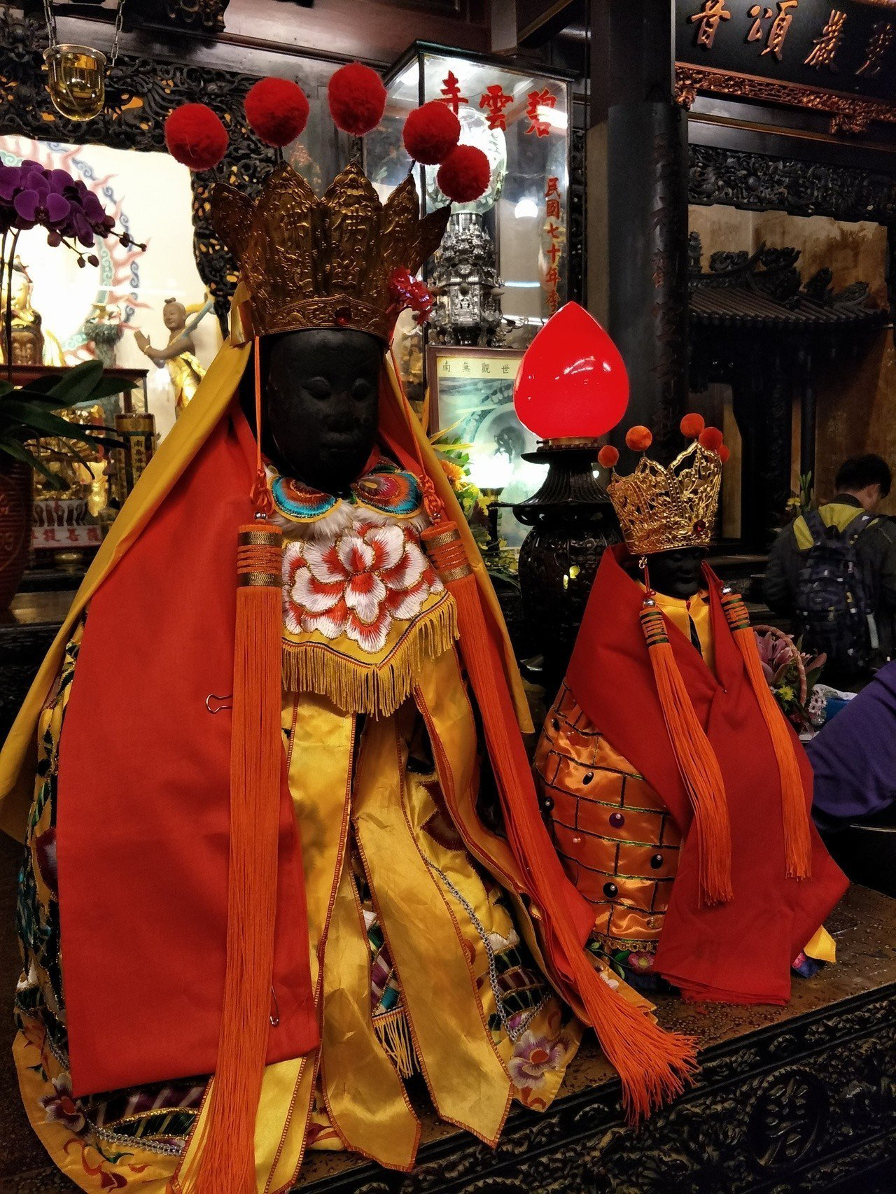 台南東山碧軒寺正二媽(左一)神威顯赫。記者謝進盛/攝影