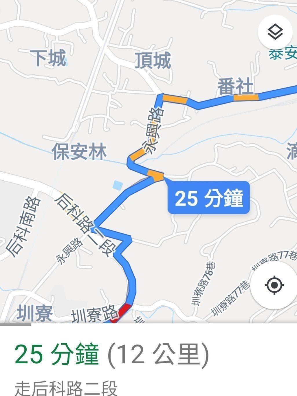 台中市后里區要開車到泰安派出所,如果走永興路會經過大坡度路段,當地人俗稱「打死人...