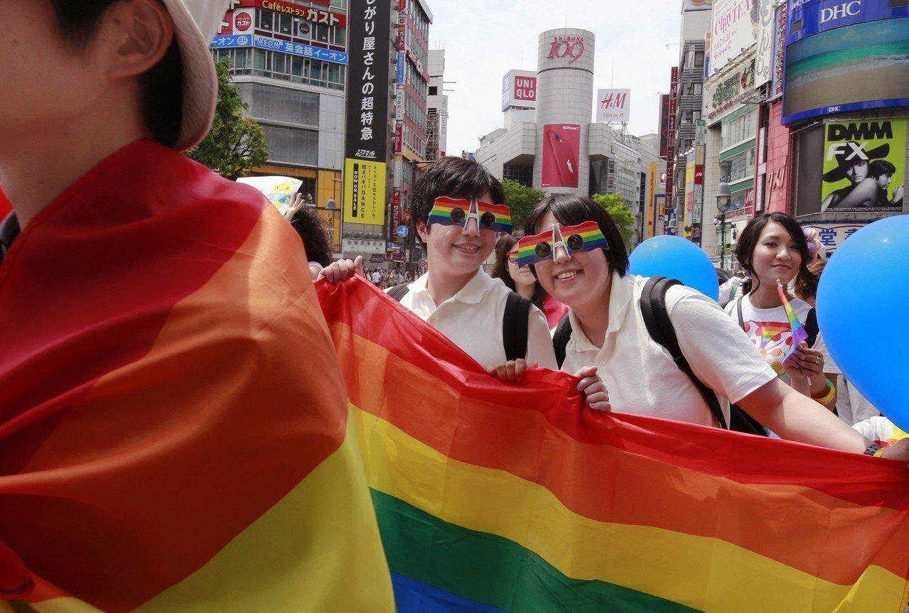 日本的同志遊行。美聯社