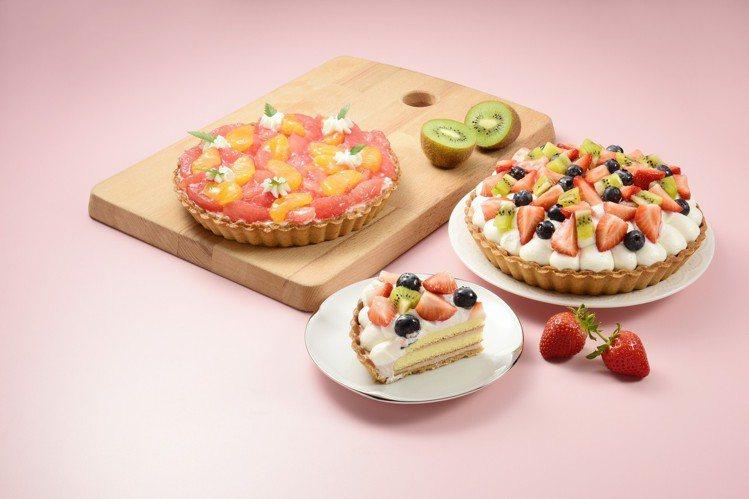 「莓好樂園」、「香橘甜柚」派塔切片新品登場。圖/亞尼克提供