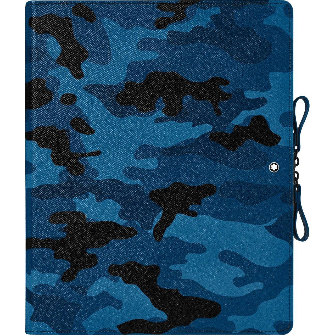 萬寶龍匠心系列迷彩藍數位擴增筆記本,25,400元。圖/萬寶龍提供