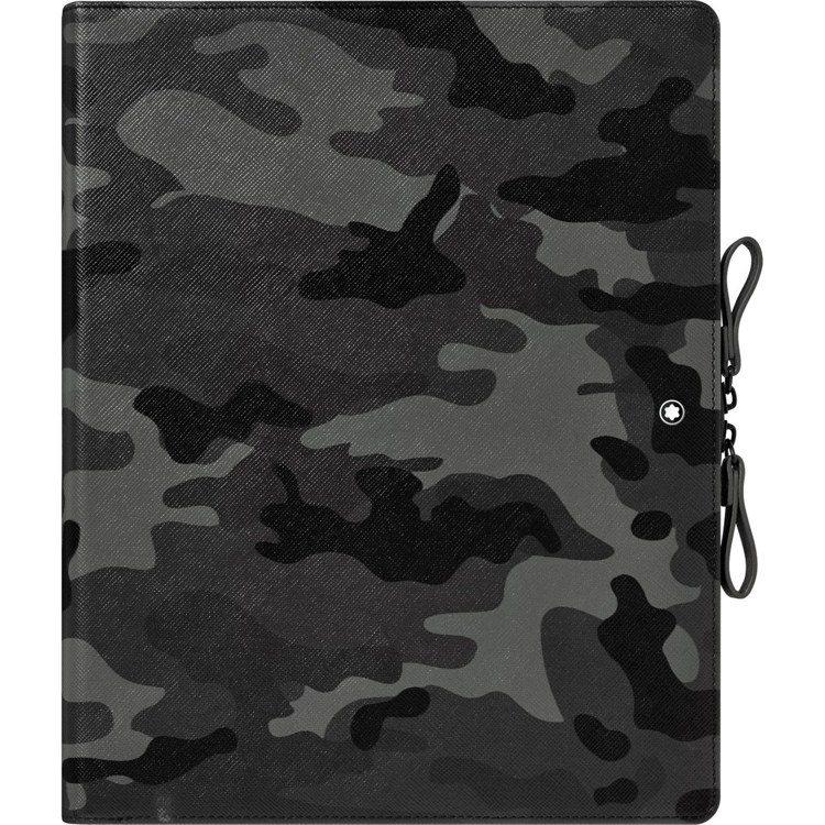 萬寶龍匠心系列迷彩綠數位擴增筆記本,25,400元。圖/萬寶龍提供