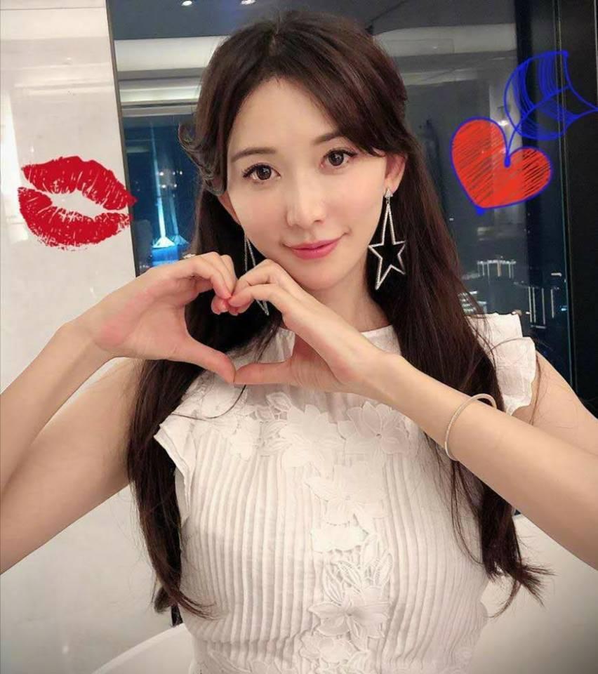 林志玲祝大家情人節快樂。圖/摘自臉書
