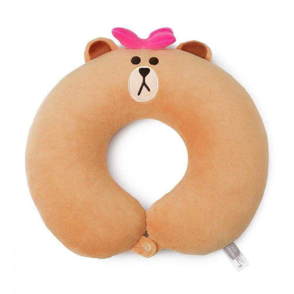 前100名申辦LINE MOBILE情人節限定方案者再送熊美頸枕。圖/LINE提...