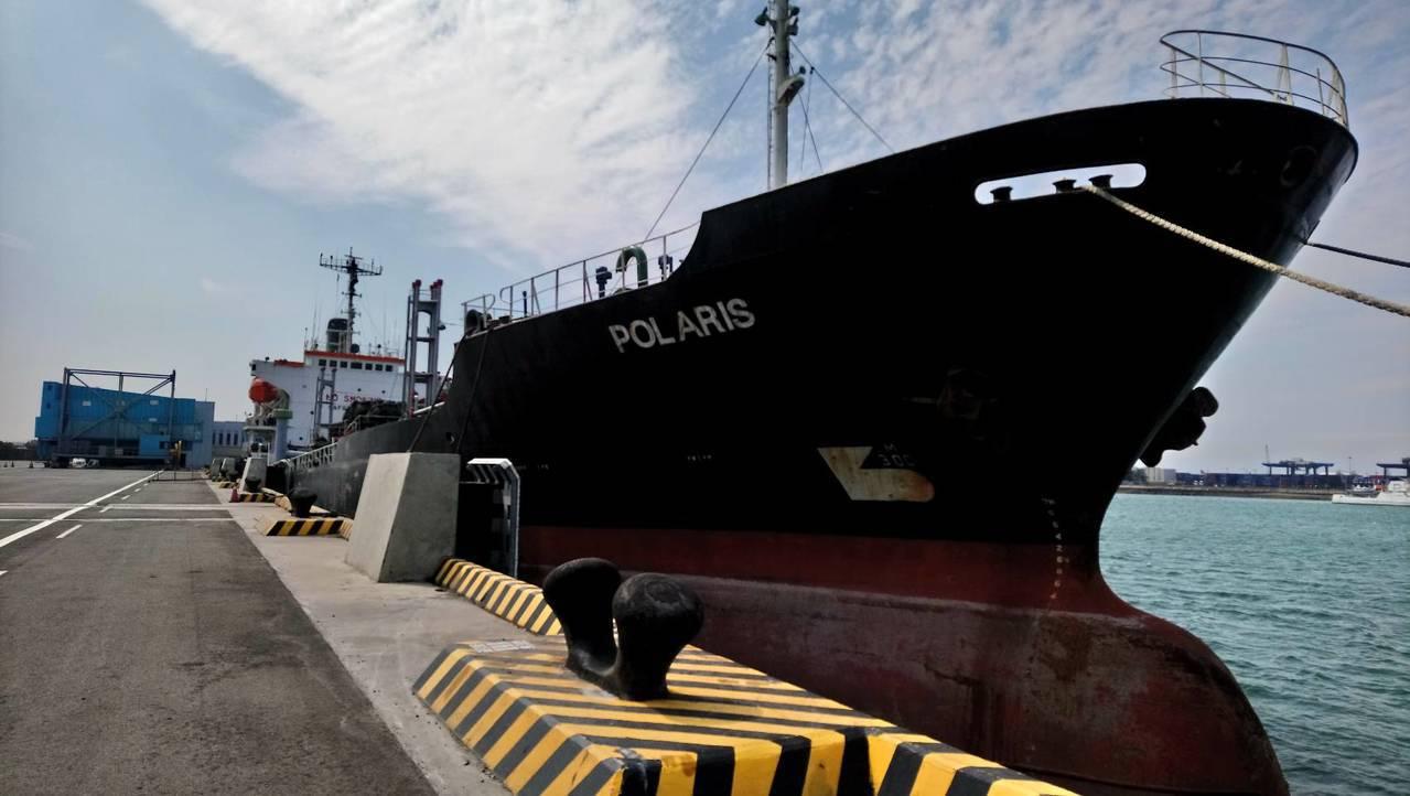 「北斗星」號油輪疑涉及賣油給北韓船隻被發現,遭檢調調查。記者余采瀅/攝影