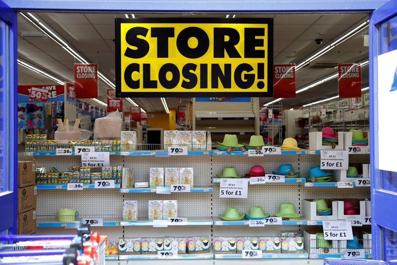 報告指出美國零售業將面臨另一波關店潮。(圖/路透)