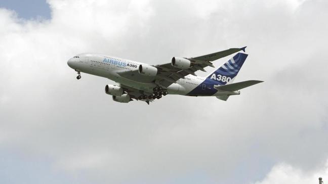 空巴A380巨無霸客機。(圖/路透)