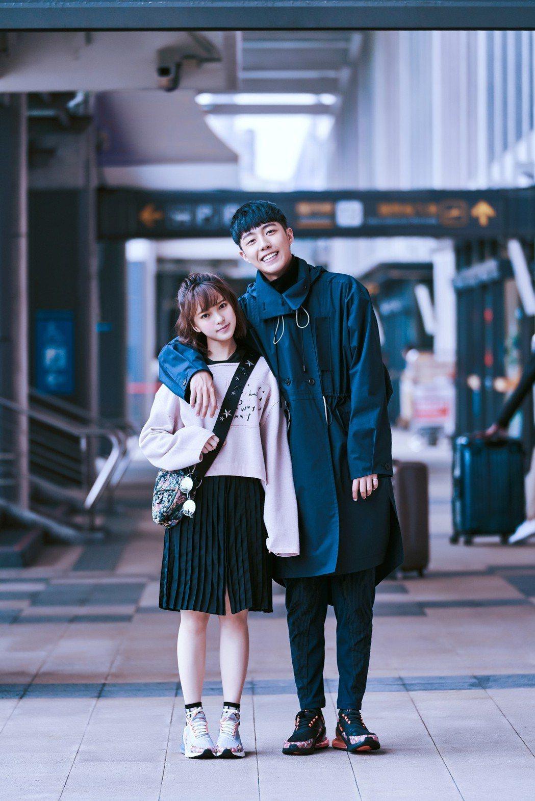 蔡凡熙(右)、項婕如情人節甜飛倫敦。圖/群星瑞智提供