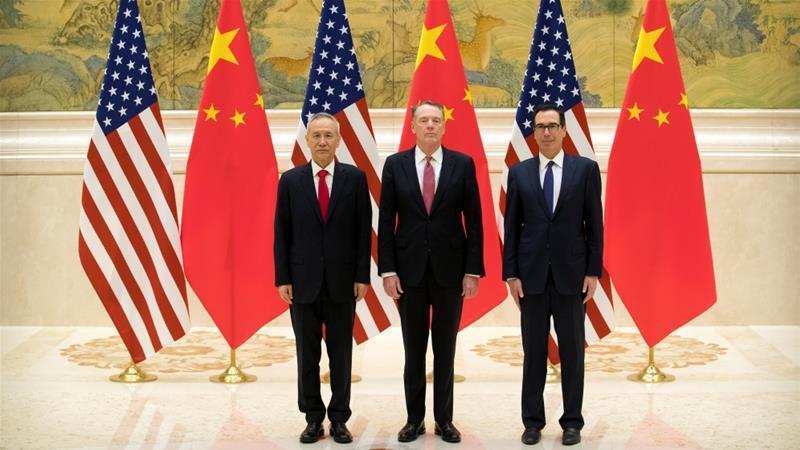 為期兩天的美中高層貿易談判14日在北京展開。路透