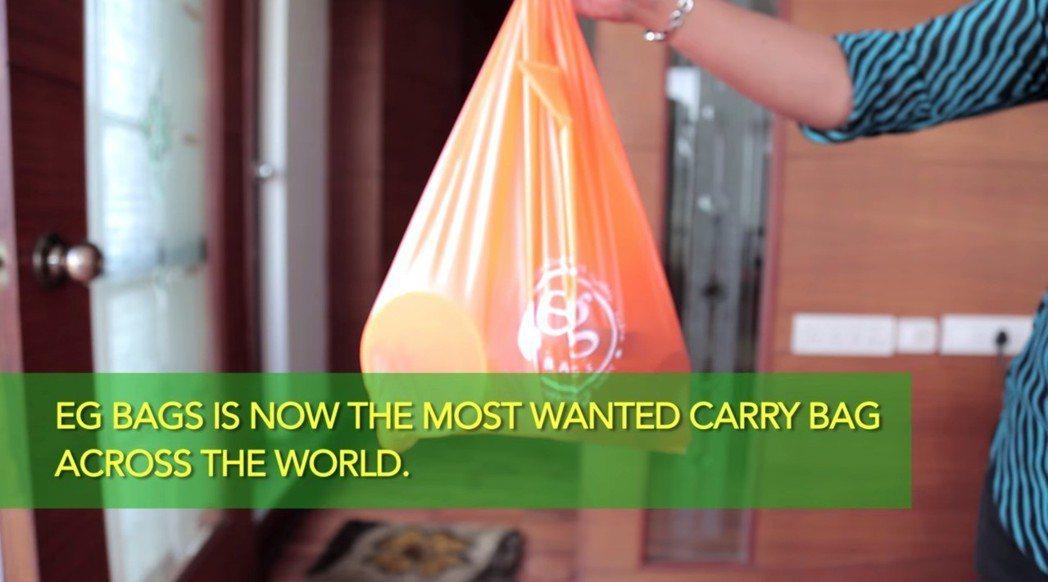 印度Envi Green公司推出以天然份製成的提袋,用來代替塑膠袋。(圖片來源=...