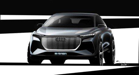 2019日內瓦車展純電來襲 Audi Q4 e-tron concept 設計草圖曝光