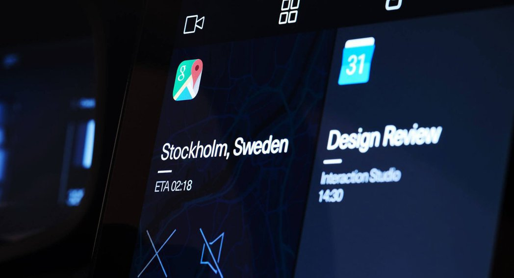Polestar 2將導入名為Google Android HMI車用娛樂資訊系統。 摘自Polestar